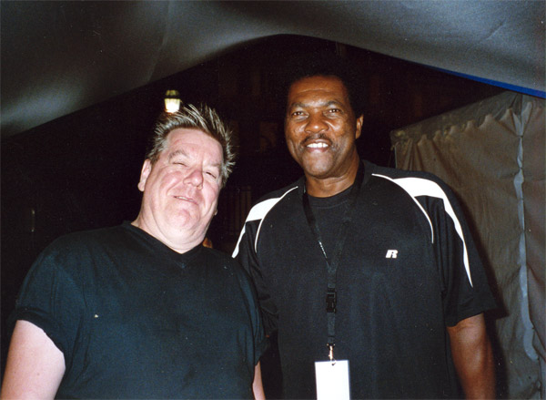 Eddy with Terry Evans